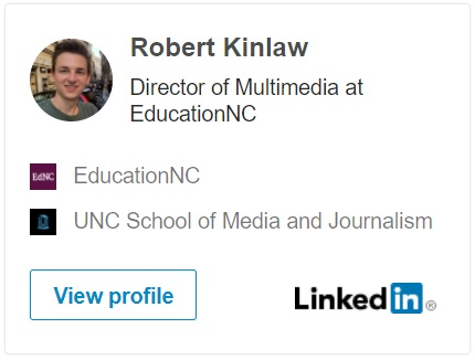 Provides a link to Robert's LinkedIn account